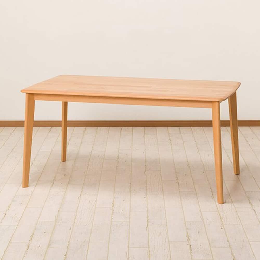 【ニトリ】 ダイニングテーブル Nコレクション T−01 150 NA ナチュラル:天然木ならではの滑らかな造り、肌ざわりが楽しめます。