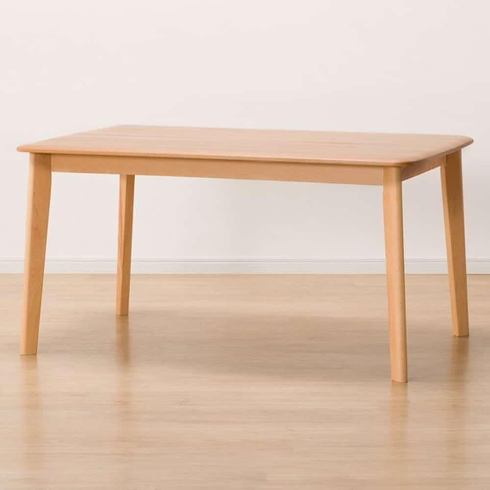 【ニトリ】 ローダイニングテーブル Nコレクション T−01 120 NA ナチュラル:ビーチ無垢材(集成材)をふんだんに使用