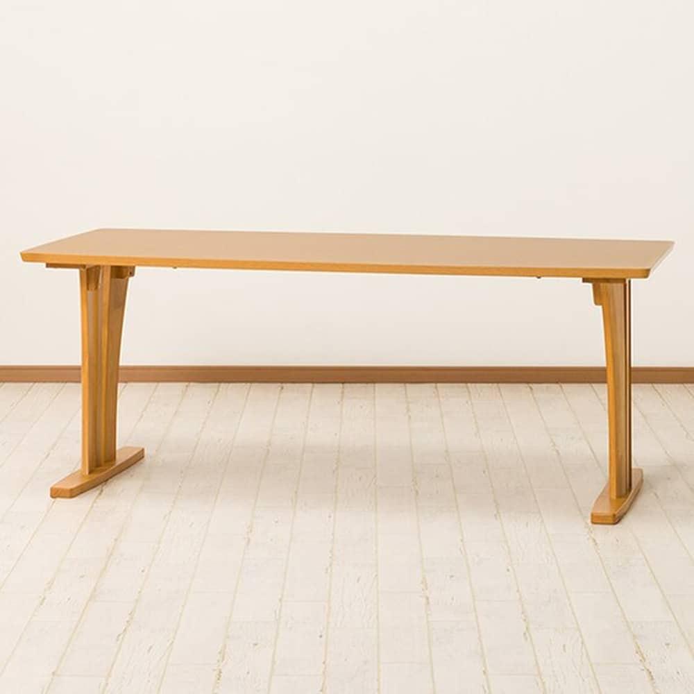 【ニトリ】 ダイニングテーブル ラグーンGK 180LBR ライトブラウン:ファミリーにぴったりな広々天板幅広タイプ