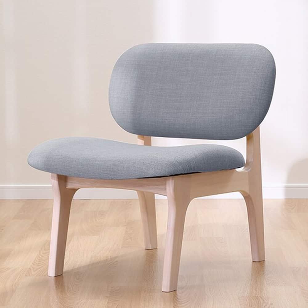 【ニトリ】 1人用チェア リラックスワイド WHウォッシュ/グレー:ひろびろ座面でゆったりくつろげる