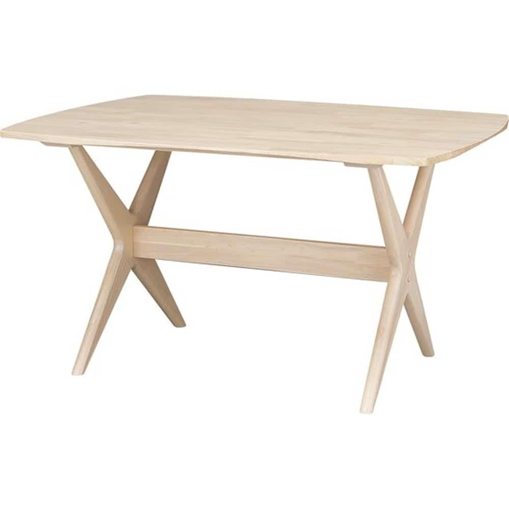 【ニトリ】 リビングダイニングテーブル リラックスワイド120 WW ホワイトウォッシュ:リラックスできるロータイプのリビングダイニングテーブル。