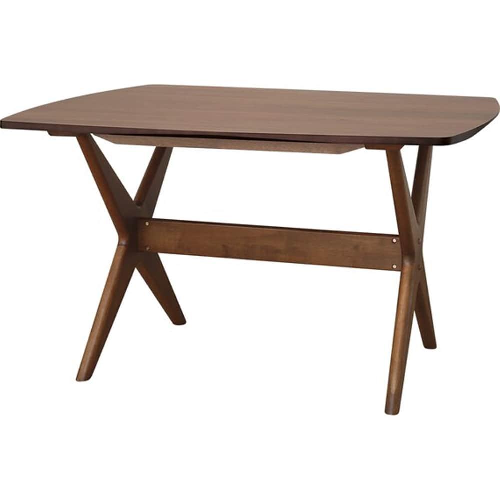【ニトリ】 リビングダイニングテーブル リラックスワイド120 WN-MBR ミドルブラウン:リラックスできるロータイプのリビングダイニングテーブル。
