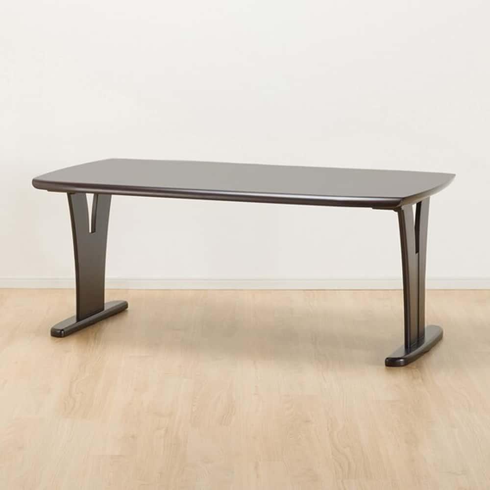 【ニトリ】 ダイニングテーブル レベント165 DBR ダークブラウン:幅165cmのゆったりとしたダイニングテーブル。