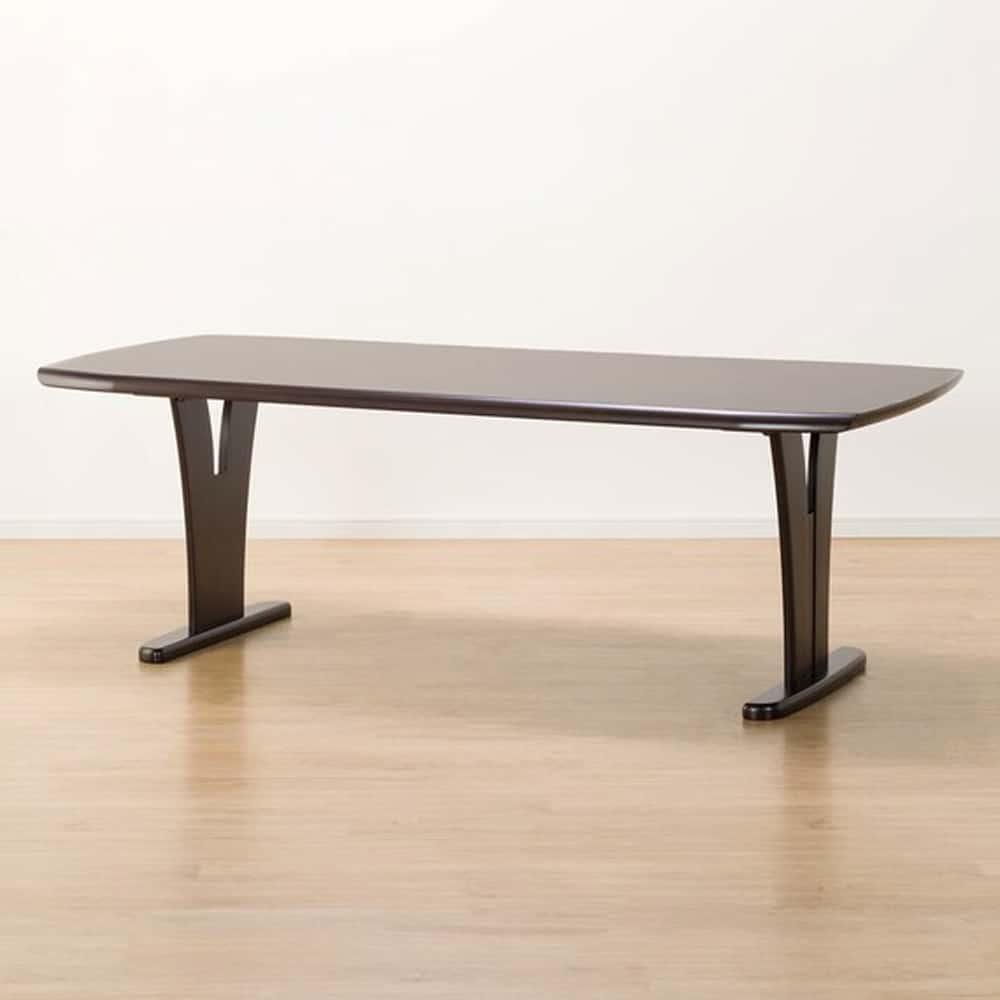 【ニトリ】 ダイニングテーブル レベント200 DBR ダークブラウン:幅200cmのゆったりとしたダイニングテーブル。
