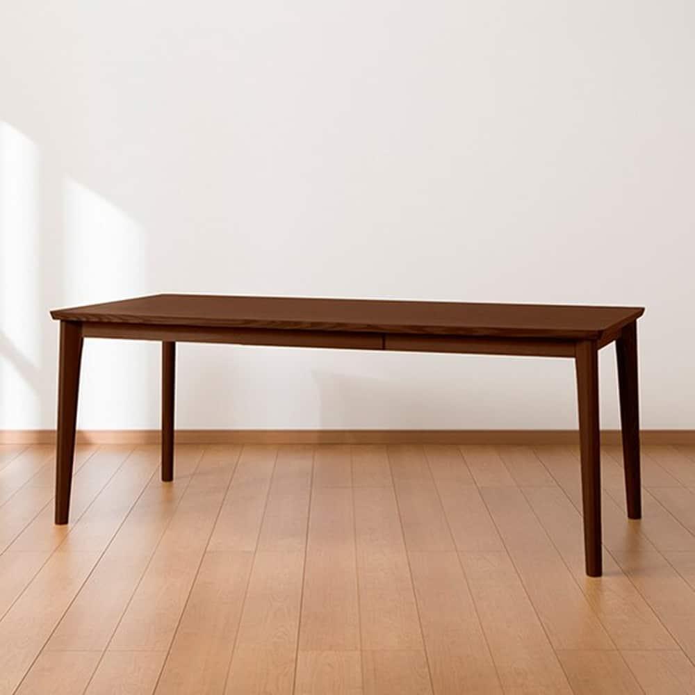 【ニトリ】 ダイニングテーブル DT ロレイン5H 180 MBR2 ミドルブラウン2:ナチュラルな雰囲気を高める鮮やかな木目のダイニングテーブル