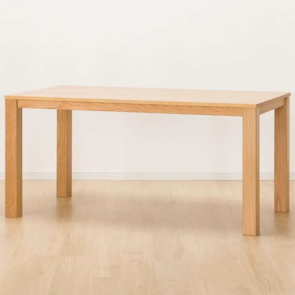 【ニトリ】 ダイニングテーブル Nコネクト150 LBR ライトブラウン:シンプルモダンな北欧テイストのダイニングテーブル。
