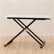 【ニトリ】 昇降テーブル ガラステーブル NEW アクティブ WH ホワイト
