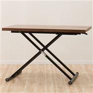 【ニトリ】 昇降テーブル NEW アクティブ ウォルナット ミドルブラウン