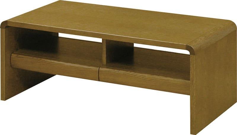リビングテーブル 白珠 T−1100(90x45)ダークオーク:リビングテーブル ※写真は【100×50cm】サイズです