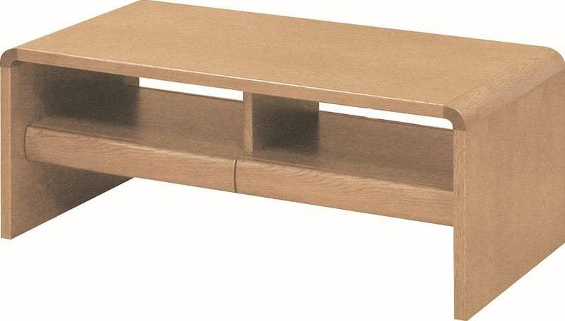 リビングテーブル 白珠 T−1104(110×55)ナチュラルオーク:リビングテーブル ※写真は【100×50cm】サイズです