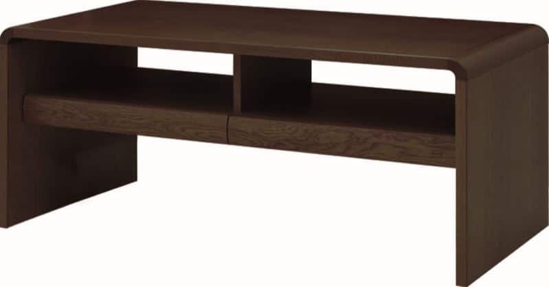 リビングテーブル 白珠 T−1108H(100×50)カフェオーク:リビングテーブル ※写真は【100×50cm】サイズです