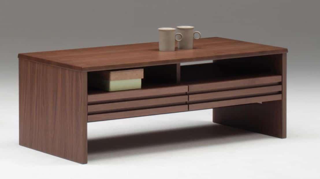 リビングテーブル サロット 110WA:《リビングテーブル「サロット」》※小物類はイメージです。