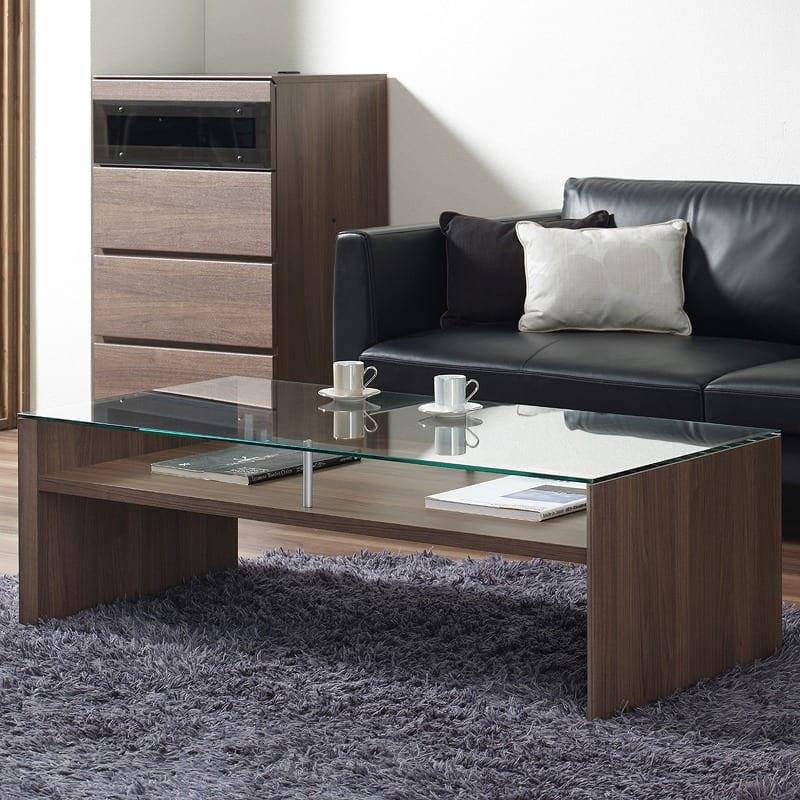 リビングテーブルTFC−100R Nウォールナット:リビングテーブル ※写真は「サイズ:120cm」のイメージです
