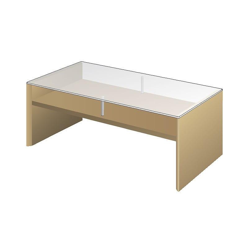 リビングテーブルTFC−100R Oホワイトオーク:リビングテーブル