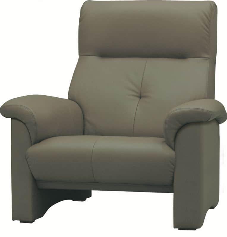 1人掛ソファー A−2100 皮革�bQ410:《快適な座り心地のコンパクトハイバックソファー》