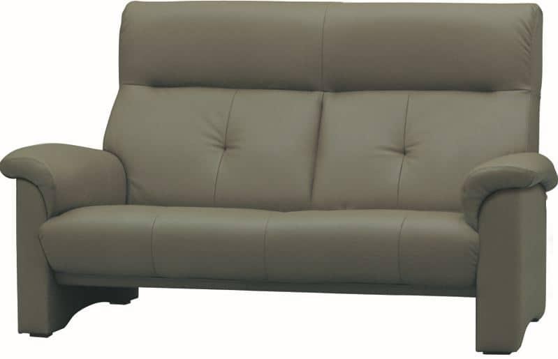 2人掛ソファー L−2100(幅152cm) 皮革�bQ410:《快適な座り心地のコンパクトハイバックソファー》