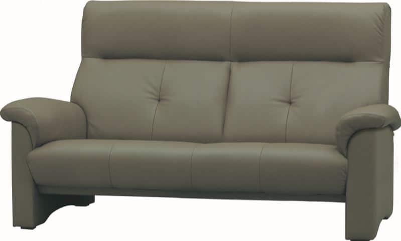2人掛ソファー WL−2100(幅162cm)皮革�bQ410:《快適な座り心地のコンパクトハイバックソファー》