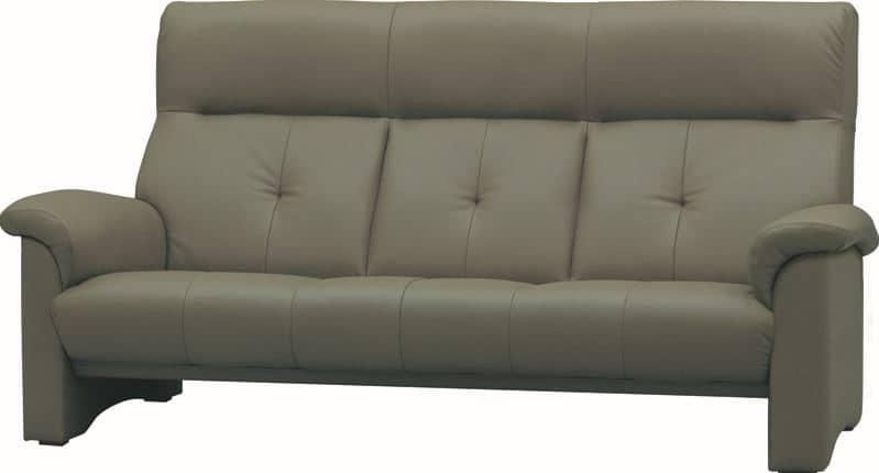 3人掛ソファーS−2100 皮革�bQ410