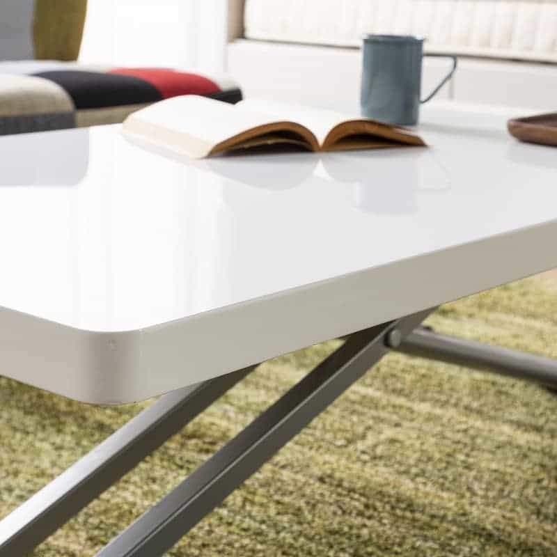 昇降リビングテーブル ステアー110:3.8cm厚の天板