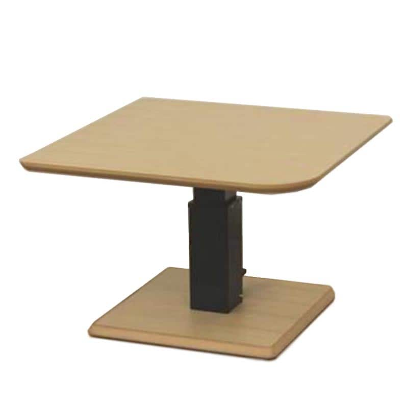 昇降テーブル ステップ100変四角L(ONA)オークナチュラル:昇降テーブル