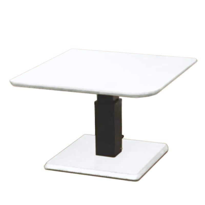 昇降テーブル ステップ100変四角L(OWH)オークホワイト