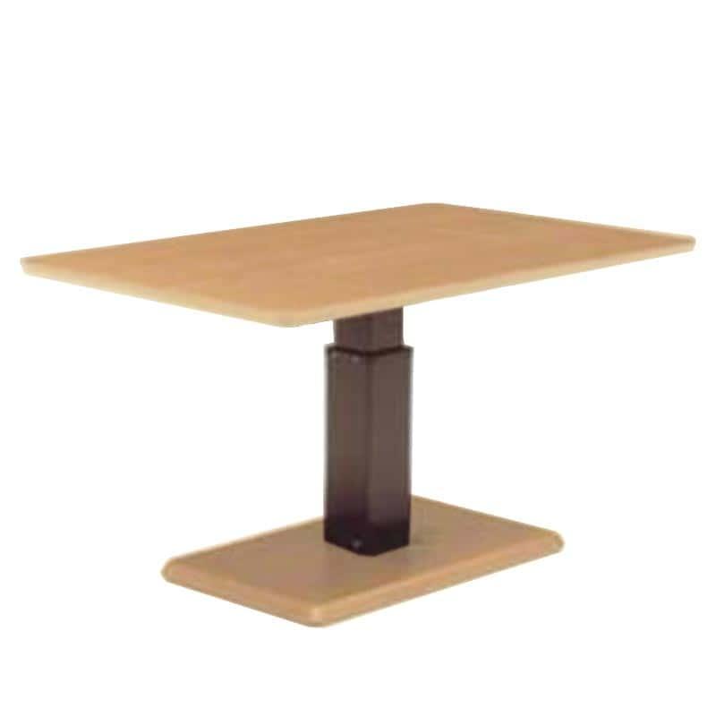 昇降テーブル ステップ120長方形L W(ONA)オークナチュラル:昇降テーブル