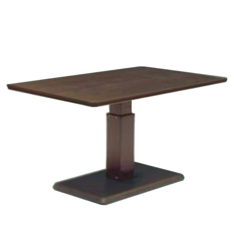 昇降テーブル ステップ120長方形L W(ODB)オークブラウン