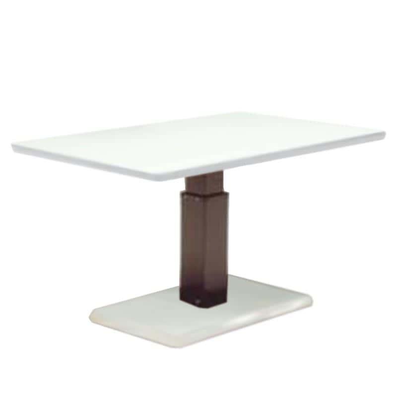 昇降テーブル ステップ120長方形L W(OWH)オークホワイト:昇降テーブル