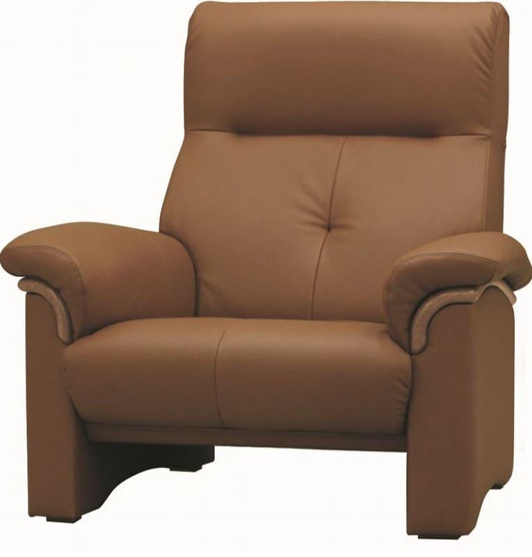 1人掛ソファー A−2000 皮革�bP050:《快適な座り心地のコンパクトハイバックソファー》