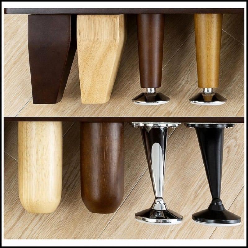 1人掛けソファー シフォンW100 木脚(角)BR (アイボリー):豊富なデザインから選べる脚