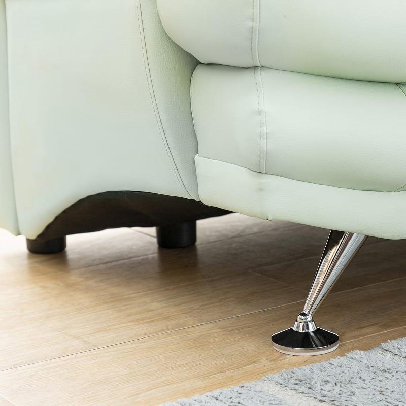 2.5人掛けソファー シフォンW167 木脚(角)NAミルクホワイト:実は6本脚なんです