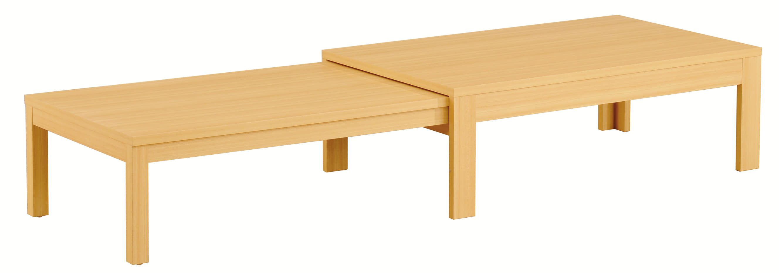 リビングテーブル ロングN 120×75 NA:《伸長式のリビングテーブル「ロングN」》