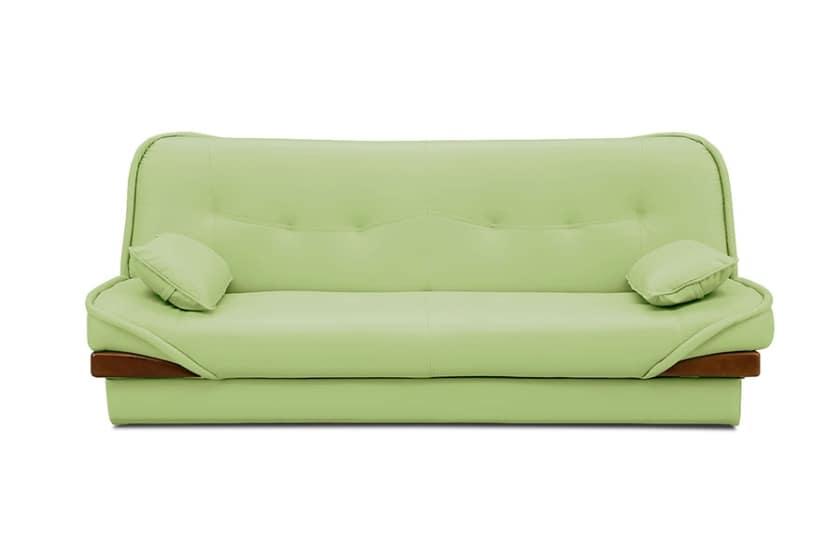 収納付ソファーベッド ラッセル�U(グリーン):◆ソファーとしても、ベッドとしても使用できる優れもの。