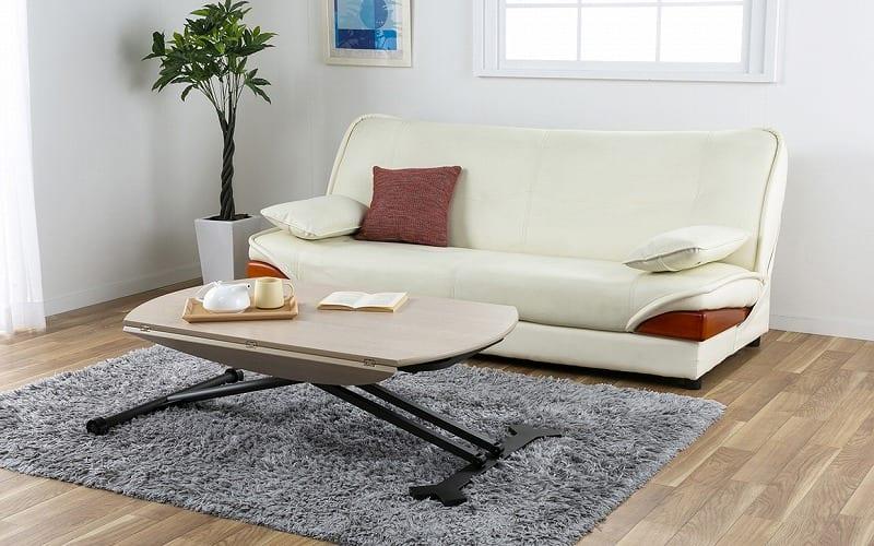 収納付ソファーベッド ラッセル�U(グリーン):ソファとベッドのダブル機能