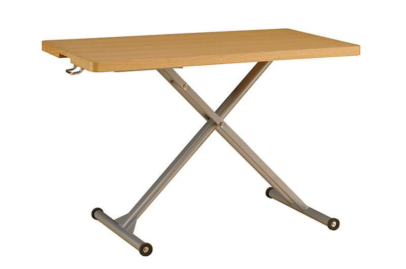 昇降リビングテーブル コルト:◆簡単操作で高さが変えられる昇降式リビングテーブルです。