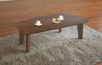 リビングテーブル LT−497(変形120)−RNブラウン:《変形型のリビングテーブル》※写真はイメージです