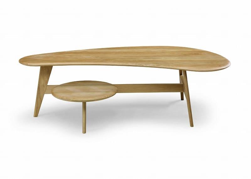 リビングテーブル ユズ Y−030:《ウォールナットとオークの無垢材を使用したリビングテーブル「ユズ」》