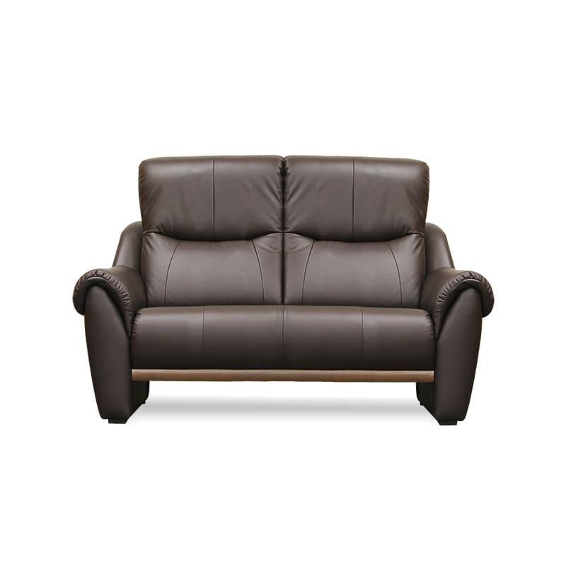 2人掛けソファー アーセナルD 150 HR4048(DBR):高級感のある、落ち着いたデザイン