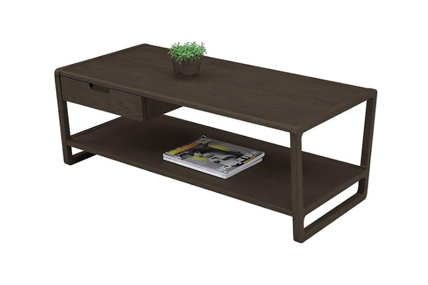 リビングテーブル クラム(タモ ダークブラウン):リビングテーブル ※小物はイメージです。