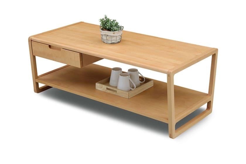 リビングテーブル クラム(ビーチ ナチュラル):リビングテーブル ※小物はイメージです。
