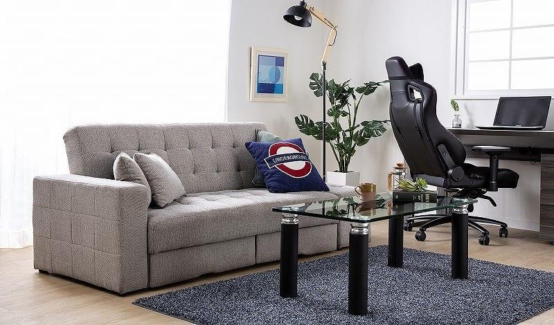 ソファベッド  キャレットSB BK:シマホで大人気のソファーベッド