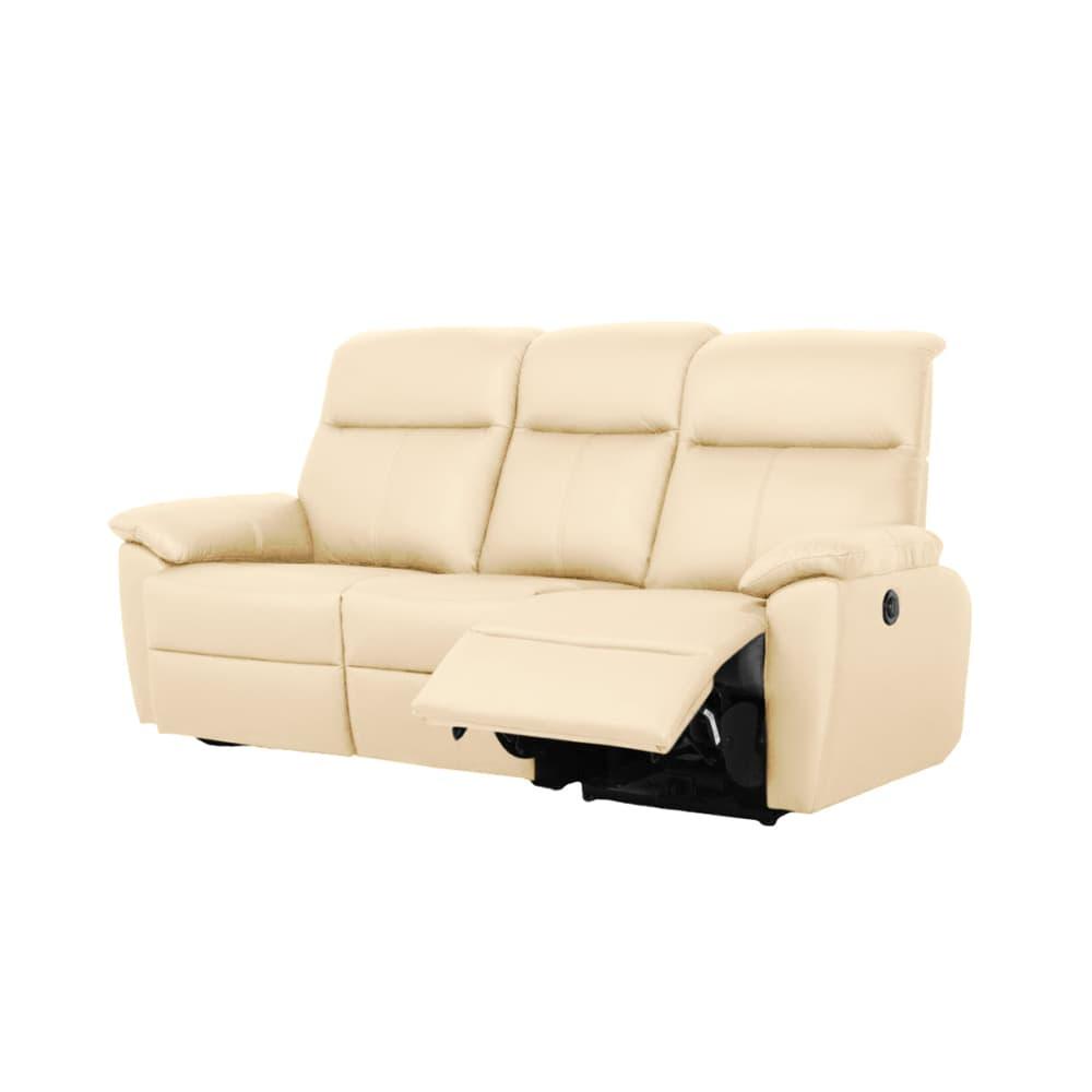 3人掛け電動ソファー ソフィアプレミアム(B−OMランク/B-C01):背もたれ・フットをお好みの角度でリクライニング