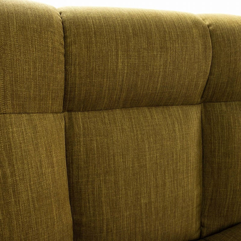 1人掛けソファー レイナ�Uハイバック(グリーン):クッションの立体感が特徴的