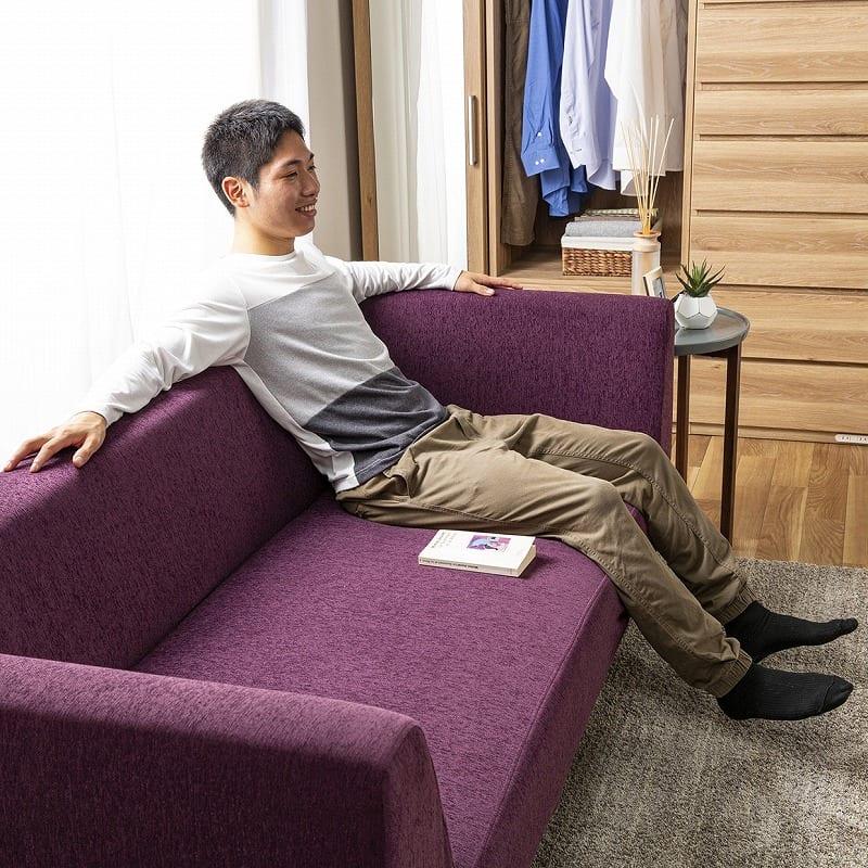 3人掛けソファー シェルタ(Tランク・BE41色):ゆったりとした座面