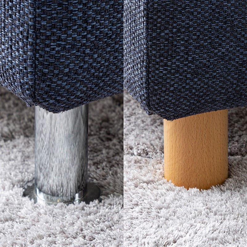 3人掛けソファー+オットマン ノッティ EP-3ランク(張地:V334BL色/脚:SV色):お部屋に合った脚部が選べます