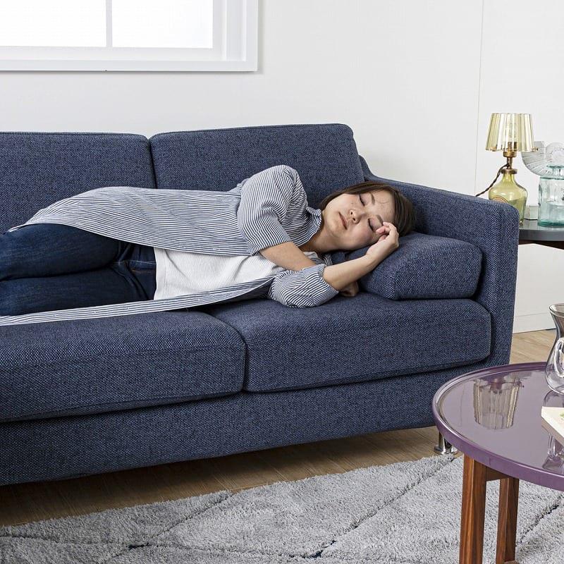 3人掛ソファー+オットマン ノッティ コンパクト EP−3ランク V334BL:ベッド並に寝心地がいい