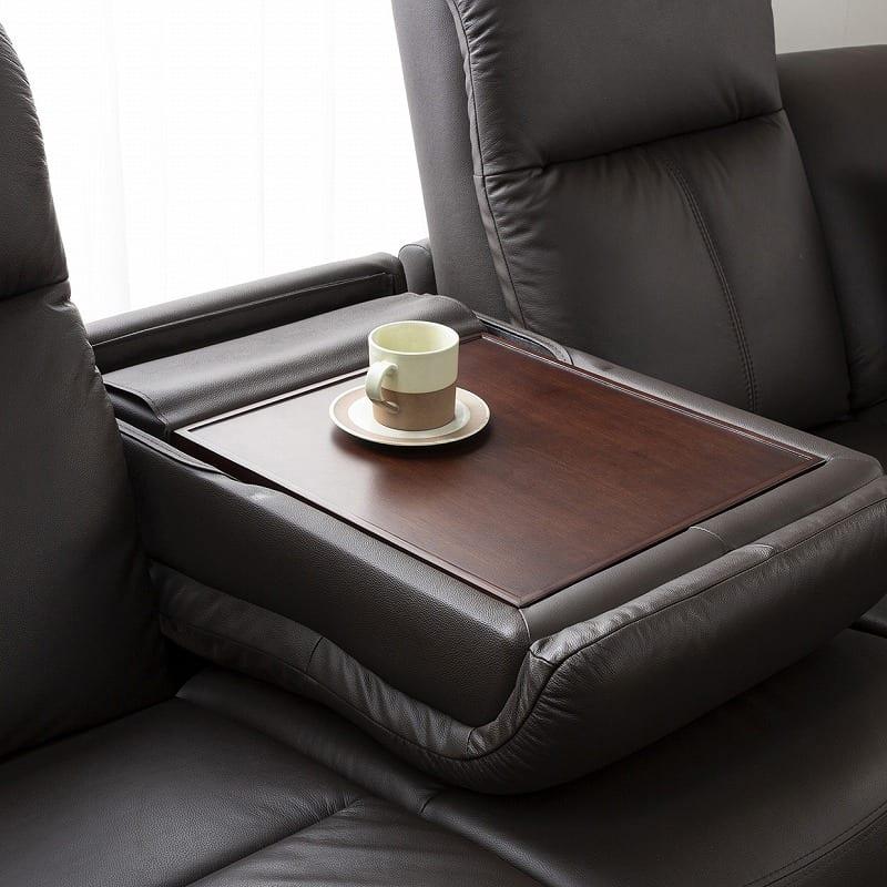 コーナーソファ6点セット 右肘電動 左肘カウチ ソフィアプラス:テーブルとして使える背もたれ形状