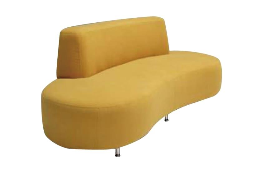 3人掛けソファー ドロシー(イエロー):◆今までにないビーンズ型の変形ソファー。