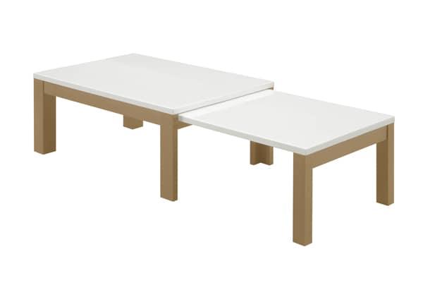リビングテーブル エコー B WH:リビングテーブル