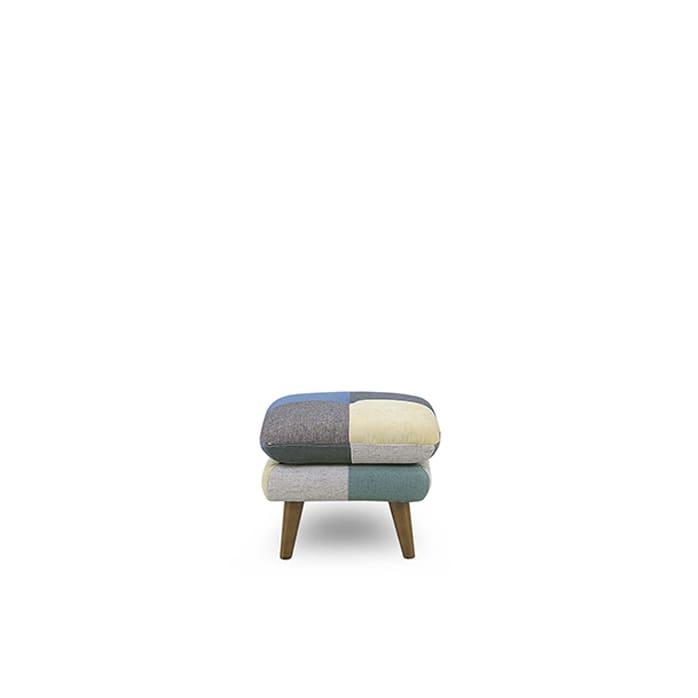 スツール ヨランダ(メール):◆パッチワーク柄がおしゃれなデザインソファーです。